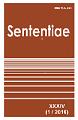 View Vol. 34 No. 1 (2016): SENTENTIAE